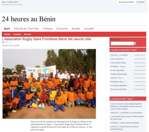 24 heures au Bénin