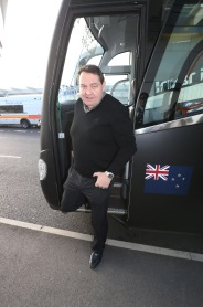 LONDON, ENGLAND - NOVEMBER 02: Steve Hansen, the head coach of Rugby World Cup winners, the New Zealand All Blacks, arrive at Heathrow Airport at the start of his journey back to New Zealand on November 2, 2015 in London, United Kingdom. (Photo by David Rogers/Getty Images for England 2015)